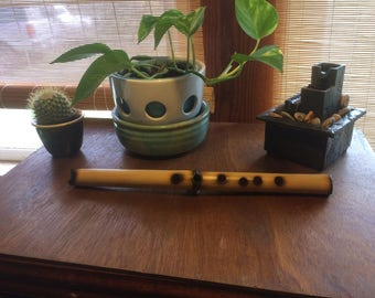 Bent Shakuhachi style bamboo flute in Ab