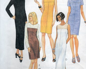 McCall's Fashion Basics Pattern 8834 CONTRASTING YOKE DRESSES  Misses Sizes 4 6 8