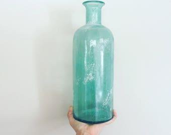 Vintage blue glass jar