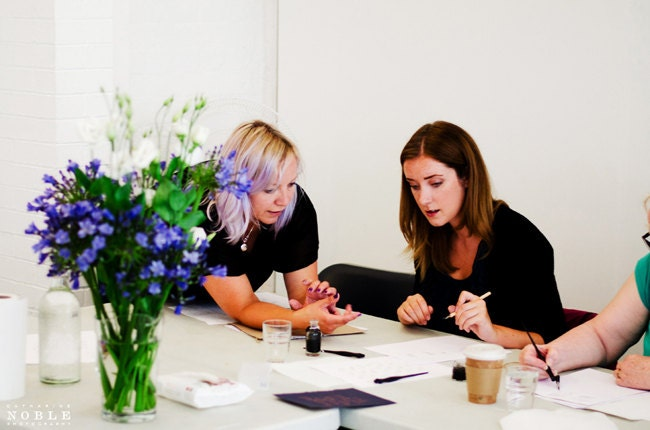 calligraphy workshop manchester uk By Moon and Tide