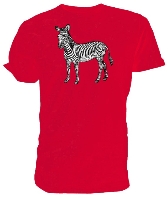 ZEBRA T shirt choice of sizes and colours, Black and white Line Drawing