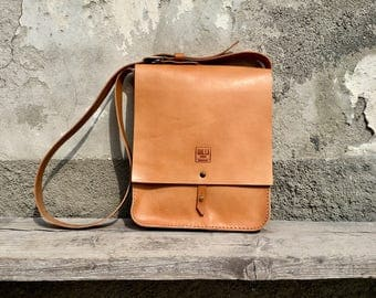 Hand Made leather messenger bag