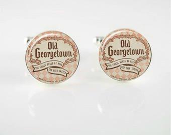 Vintage Old Georgetown Beer Tie Clip or Cuff Links