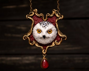 Harry Potter Owl Hedwig Necklace Hogwarts Gryffindor