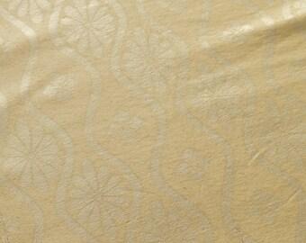 Tatewaku Japanese Obi Silk Fabric Antique Gold Hanabishi Hanakaku BX31