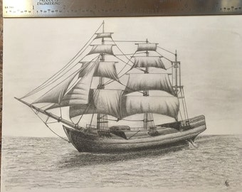 Sailboat Drawing (original)