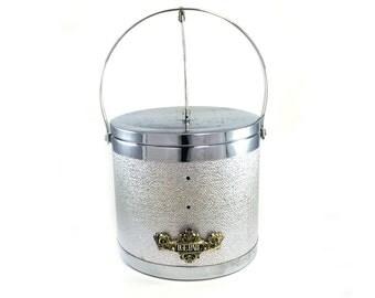 Vintage Hollywood Regency Silver Ice Bucket/Ice Pail Barware/