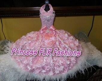 Princess Tomasa Pink Rose Couture dress