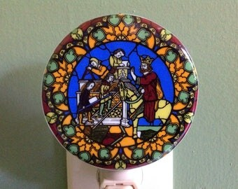 Medieval, Church, Kitchen, Lighting, Fused Glass, Night Light, Renaissance, Roman Empire, Middle Ages, Age of Faith