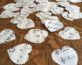 Vintage Music Confetti Large, 4cm Sheet Music, Wedding Confetti