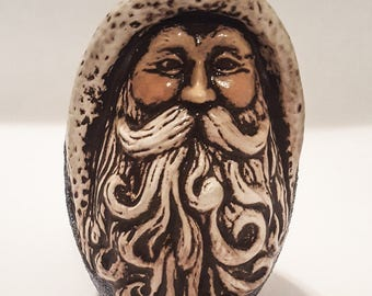 Small Hand-painted Ceramic Santa Claus