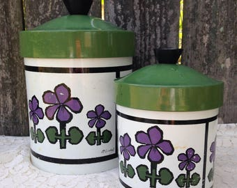 Retro Kitchen Japanese Nesting Canisters