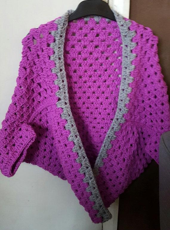 Crochet shrug granny square shrug childs shrug girls