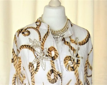 Beach dress tunic 38, 40, 42, 44, 46 caftan embroidered white beige Batiste M, L, XL, XXL