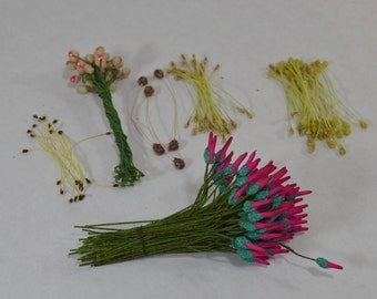 Assortment of Vintage Millinery Floral Stamens