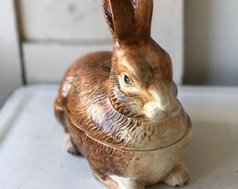 A lovely French rabbit tureen