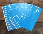 Growth Chart Ruler Stencils for DIY