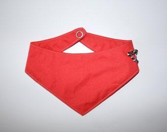 "Dog bandana ""Coral"" monochrome"