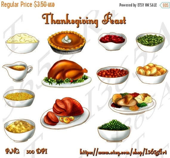 Clip Art Thanksgiving Feast Clipart 50 off sale thanksgiving feast clipart by i365art clip art party invitations scrapbooking