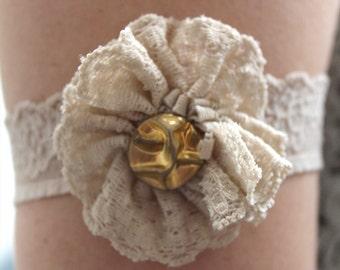 Handmade unique alternative lace flower arm jewellery