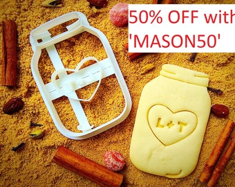Personalized Mason jar cookie cutter