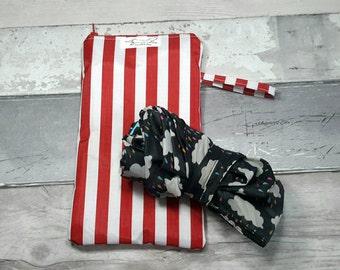 Umbrella, brolly bag, wet, waterproof bag, red stripes