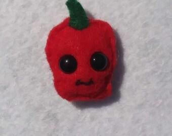 Red pepper felt pin