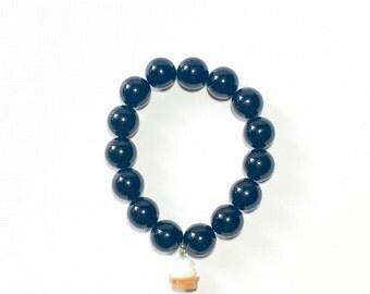 Black Stretchy Cupcake Bracelet