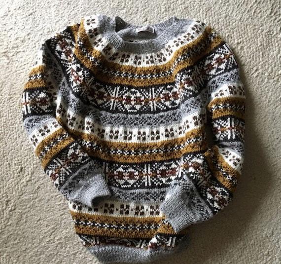 fair isle pullover alpaka pullover damen pullover hand von. Black Bedroom Furniture Sets. Home Design Ideas