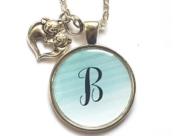 Personalized Initial Pig Necklace Pig Jewelry