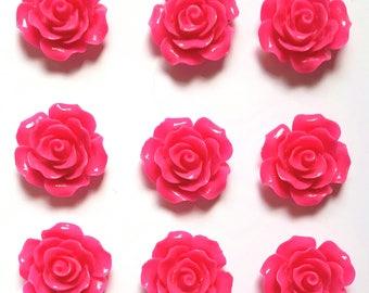 Dark Pink Rose Push Pin Thumb Tack Gift Hostess Gift Office Gift Wedding Shower Dorm Decor Teacher Gift