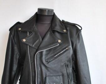 Vintage LEATHER JACKET , women's fashion leather jacket .....(031)
