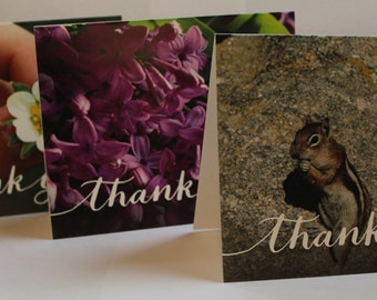 "3 Pack of Thank You Cards- blank inside 4.25"" x 5.5"""