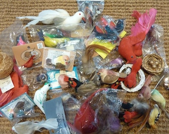 31 Craft Birds Floral Millinery Bird Collection Lot Pick Nest Spring Garden Supply Decor (#120)