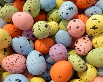 25 Eggs Craft Speckled Egg Easter Miniature Supply Decor Bird Nest (#173)