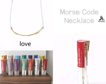 Morse Code Love Necklace, Morse Code Love, Love Morse Code Necklace, Love Morse Code, Morse Code Necklace, Love
