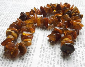 Baltic  Amber strand, amber beads, amber chip beads strand