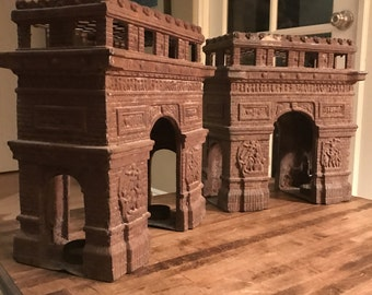 Pair of Rustic Architectural Arches, Arc de Triomphe, will split pair
