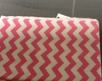 Pink Chevron Fabric by the yard