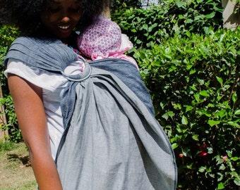 Denim Toto Ring Sling Baby Toddler  carrier,denim woven wrap baby carrier .woven baby Sling