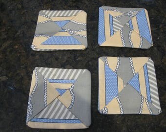 Boat Knot Coasters - Fabric #22