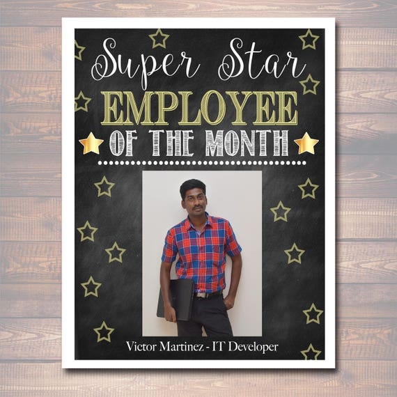 Editable Employee Of The Month Printable Office Printable