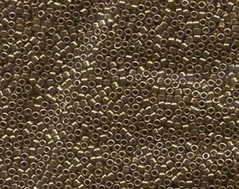 Delica ~ Metallic Light Bronze (DB022L) 11/0  Miyuki Cylinder Seed Beads. 7.2 Grams