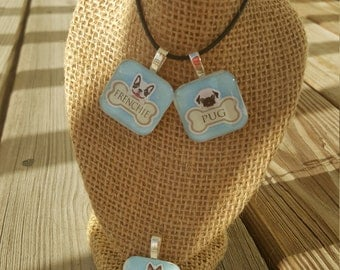 Glass Tile Necklace - Dog Breed