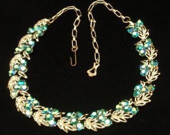 Aurora Borealis Necklace Vintage by Star