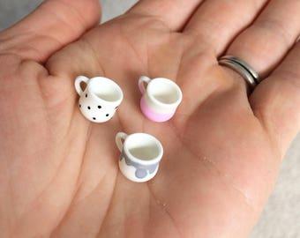 Miniature doll house decorated cup mug