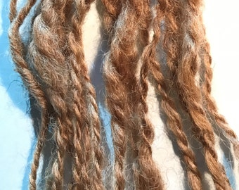 Golden Brown - Hand Spun Natural Mystery Wool, 10 ply Worsted-12ply Bulky