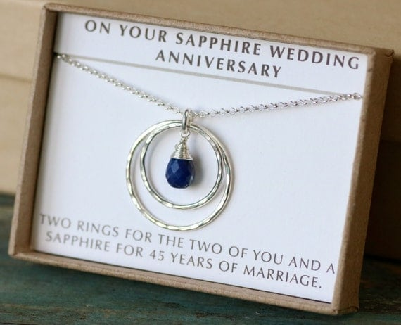 Wedding Anniversary Gifts By Year Uk: 45th Anniversary Gift 45th Wedding Anniversary Gift Sapphire