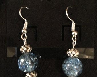 Blue sparkle earrings
