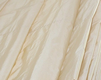 "Lambswool Cream - Pure Silk TAFFETA - By the Yard - 54"" Wide -"